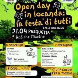 Open Day in Locanda: la festa di tutti! Alle Antiche Macine, lunedì 21 aprile, dalle 16:00 in poi