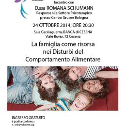Incontro con D.ssa Romana Schumann, Cesena , 24 ottobre 2014, ore 20:30