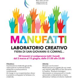 MANUFATTI, laboratorio creativo, ogni lunedì dal 2 marzo alle 21