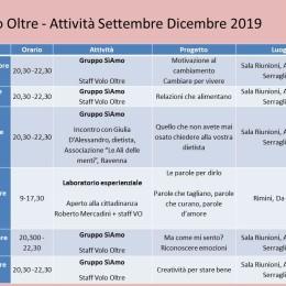 Calendario attività Volo Oltre settembre – dicembre 2019